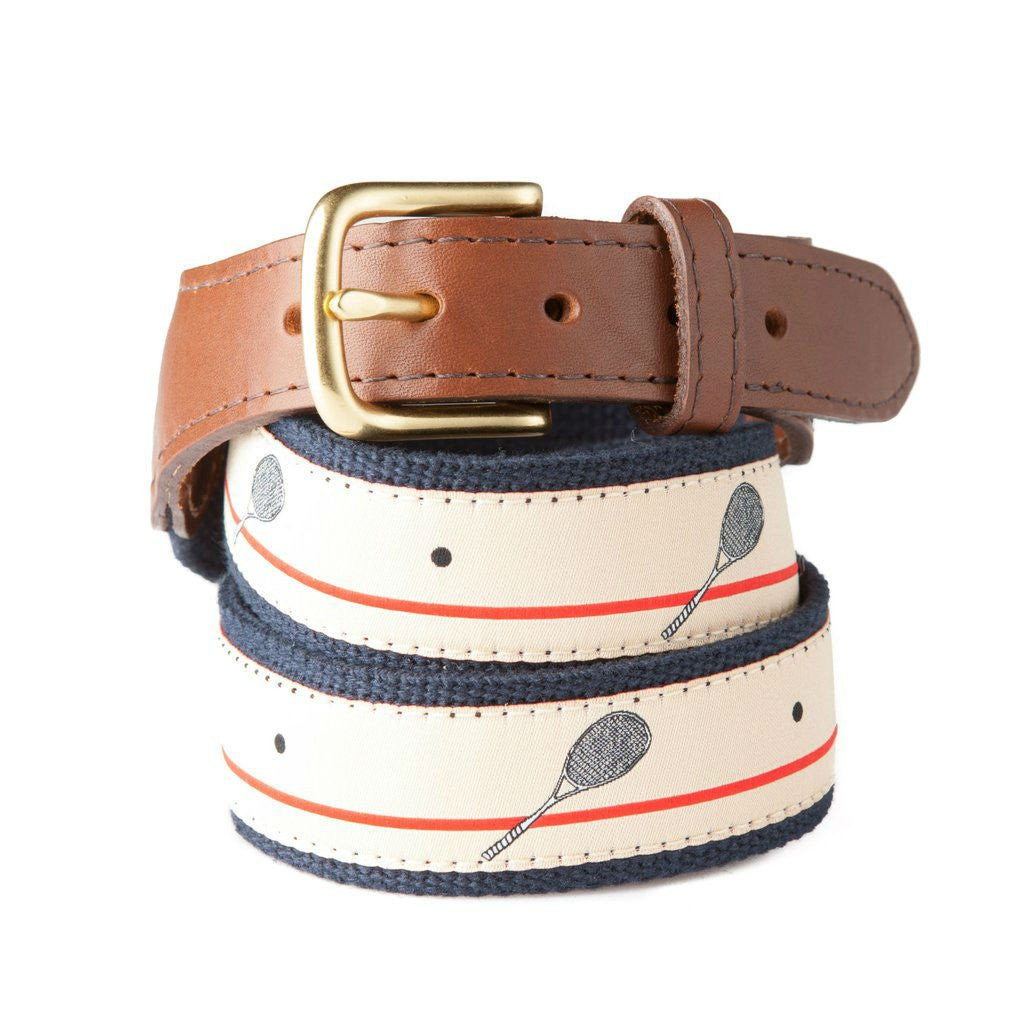 Preppy Squash Ribbon Belt Made in USA