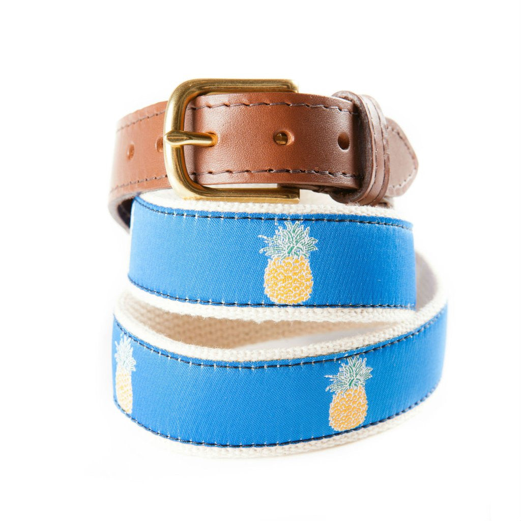 Welcome Pineapple Ribbon Belt, Made in USA