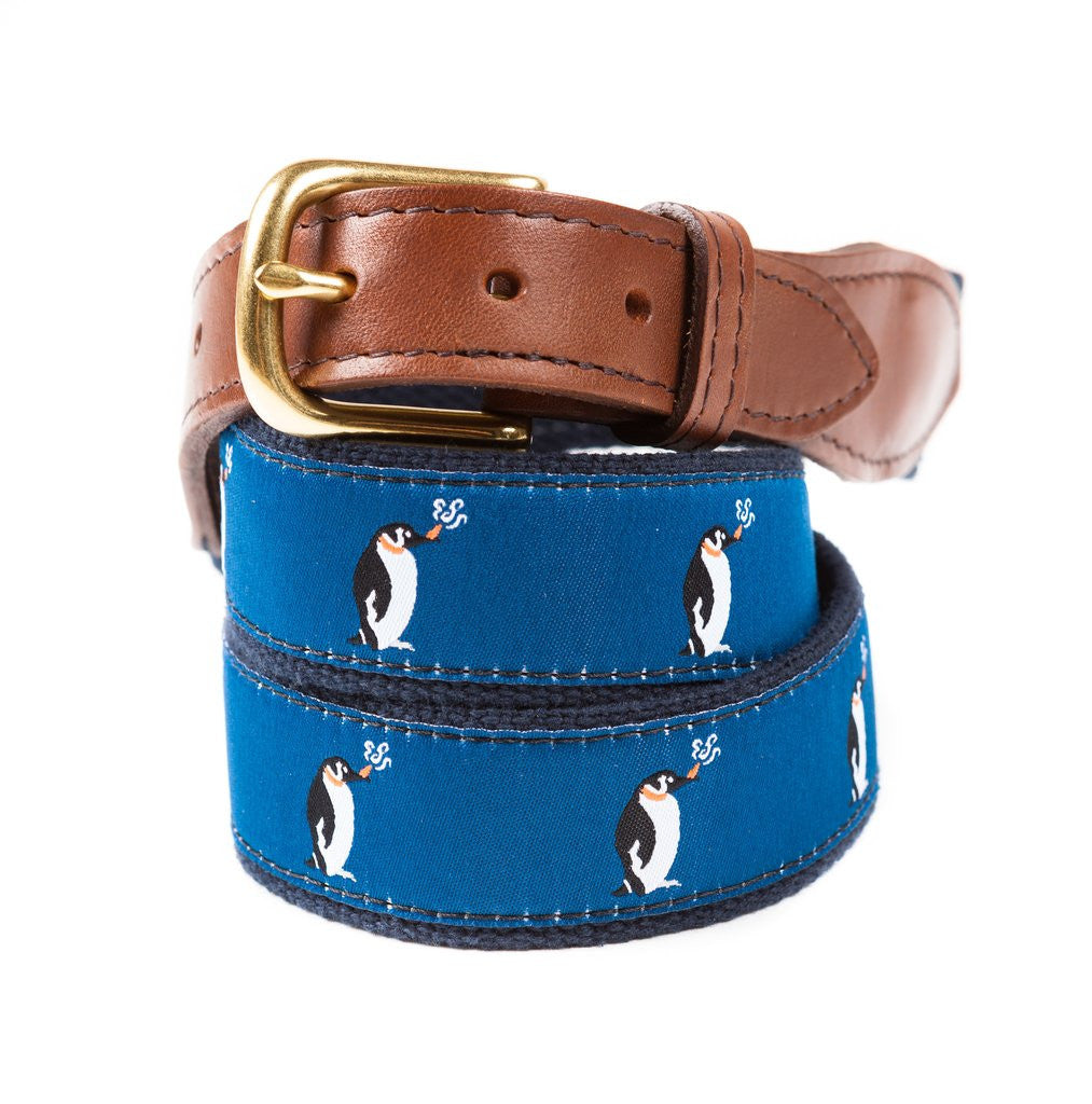 Puffin Penguin Ribbon Belt Made in USA