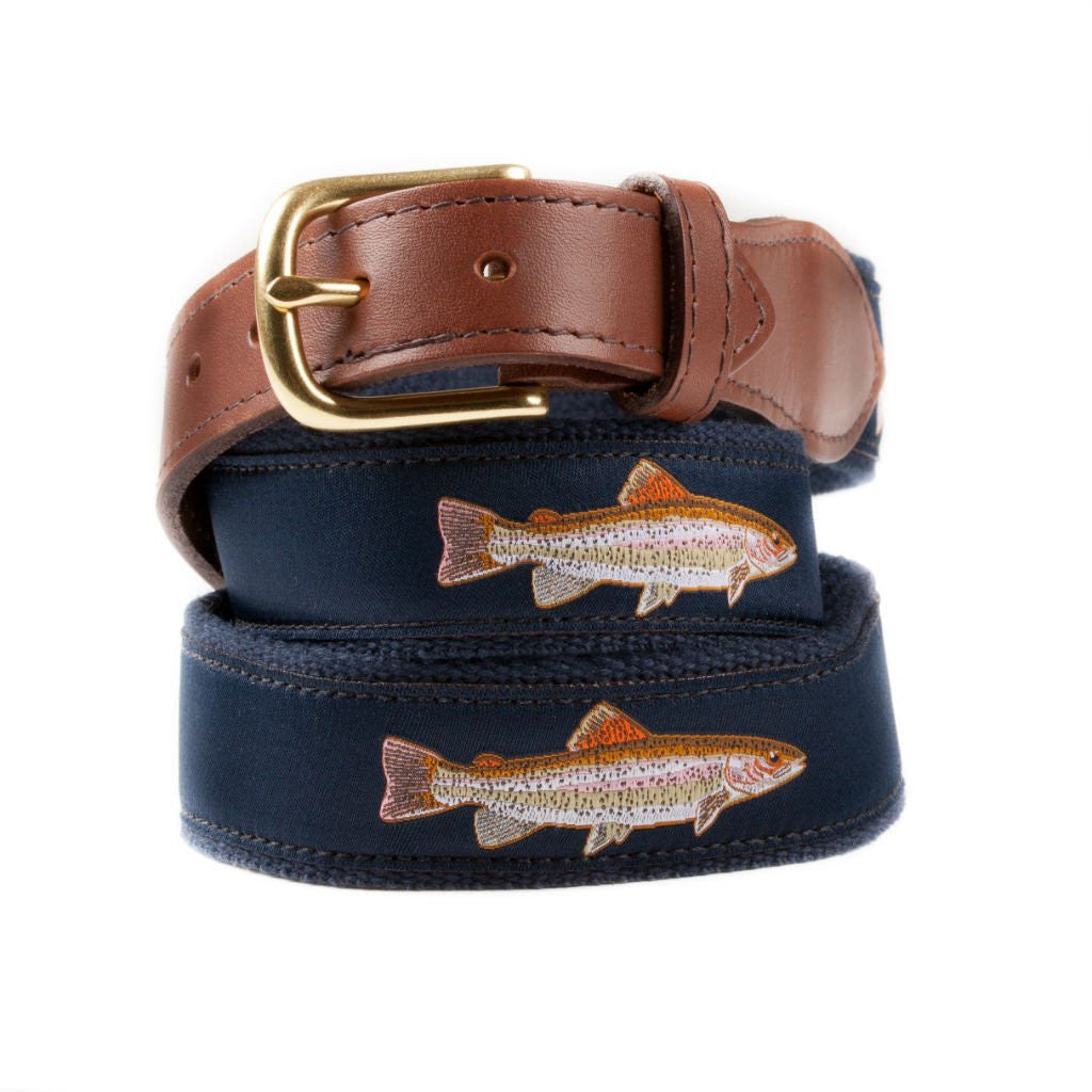 Rainbow Trout Ribbon Belt Made in USA