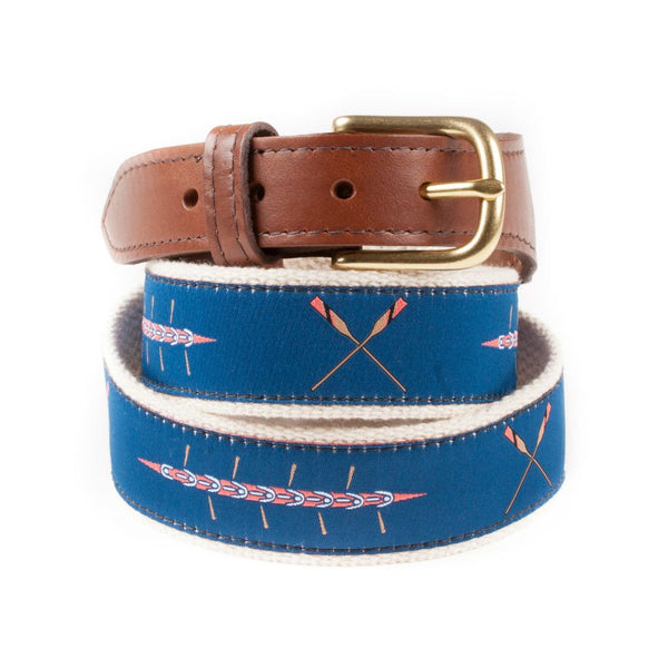 Sweep and Oars Preppy Ribbon Belt Made in America
