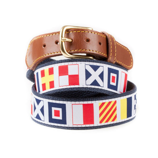 Why Knot Rum Preppy Ribbon Belt, Made in USA