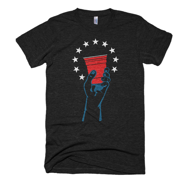 Raise Your Glass to America Classic T-Shirt in Black