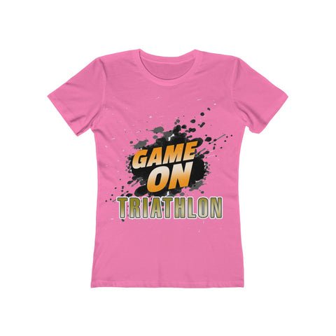 Game On Triathlon Women's The Boyfriend Tee