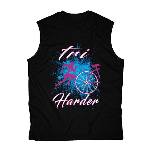 TRI HARDER Men's Sleeveless Performance Tee