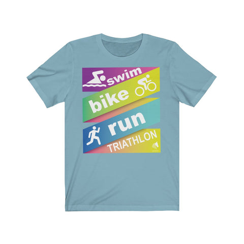Swim Bike Run Energy Unisex Jersey Short Sleeve Tee