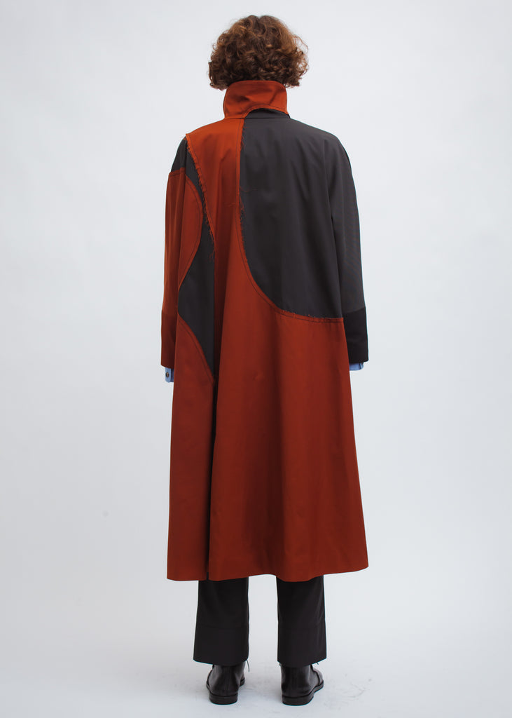 Omar Afridi Postin Drawn Coat (Orange with Grey)