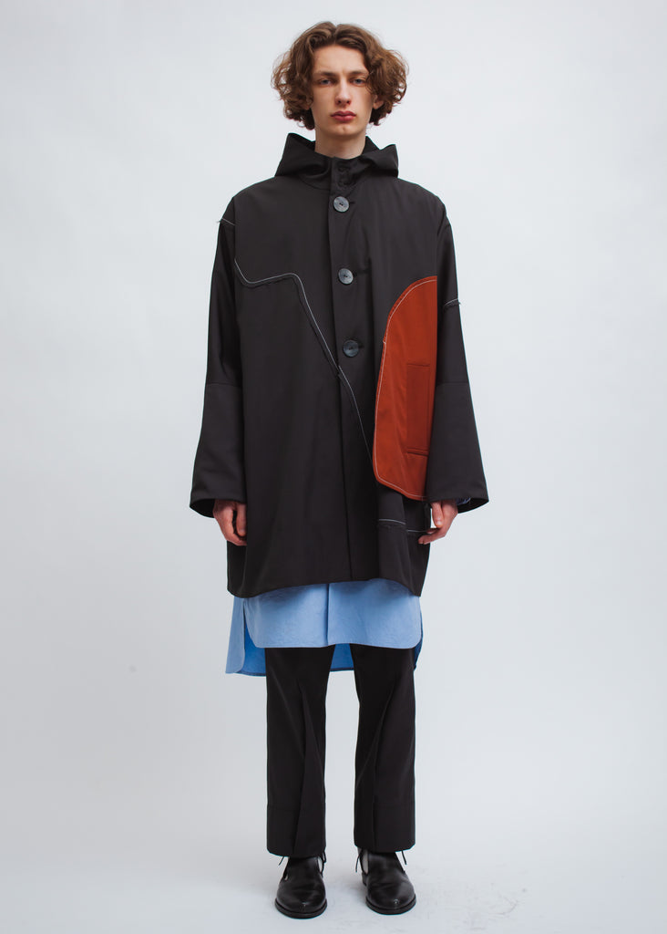 Omar Afridi Lake Smock Parka (Grey with Orange)