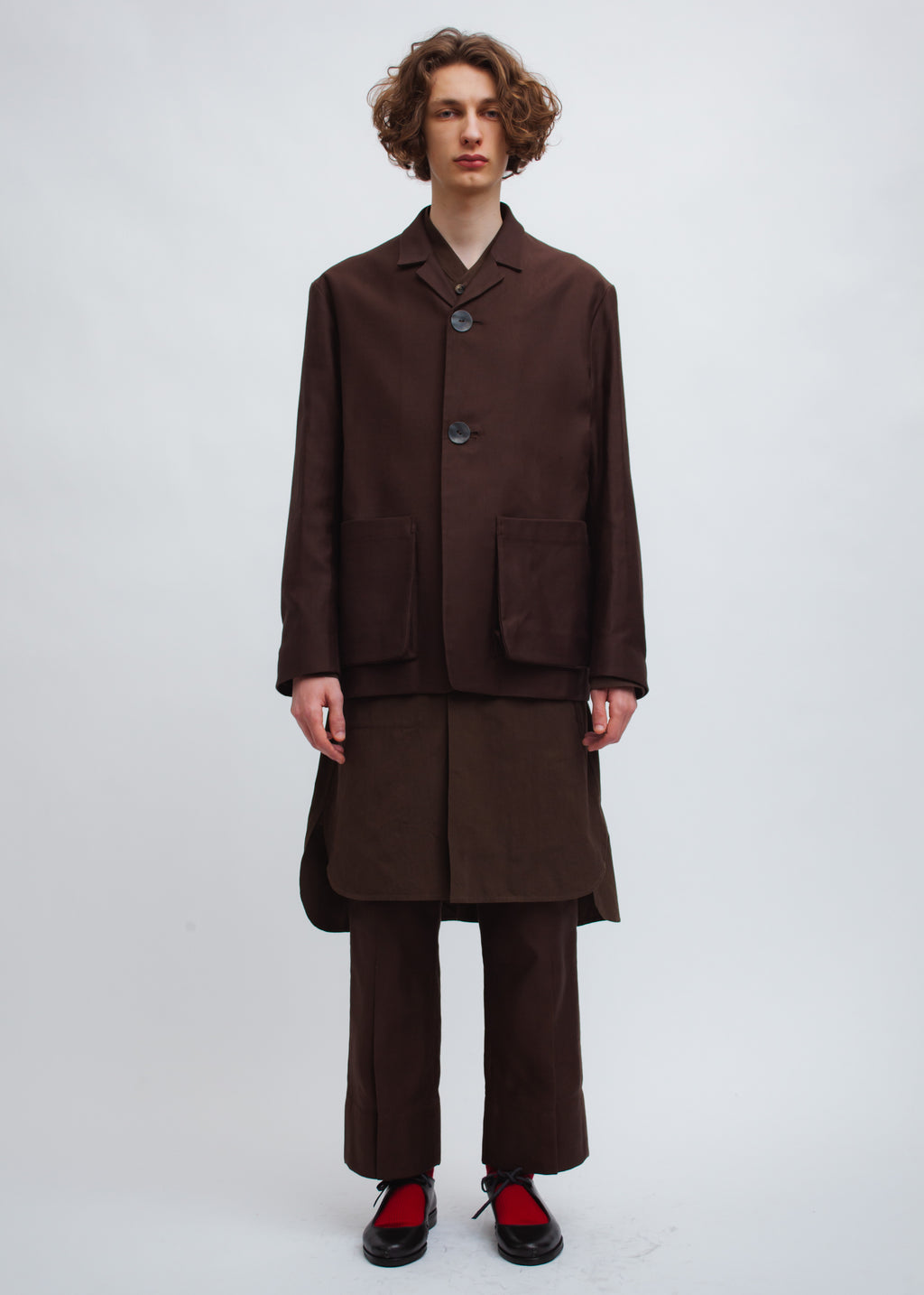 Omar Afridi Box Jacket (German Brown)
