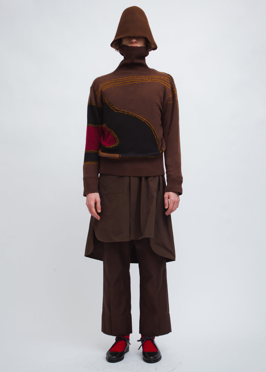 Omar Afridi Creek Turtle Neck (Brown)