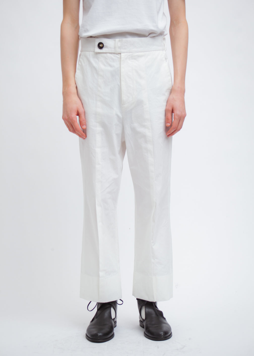Omar Afridi Rover Trousers (White Cotton)