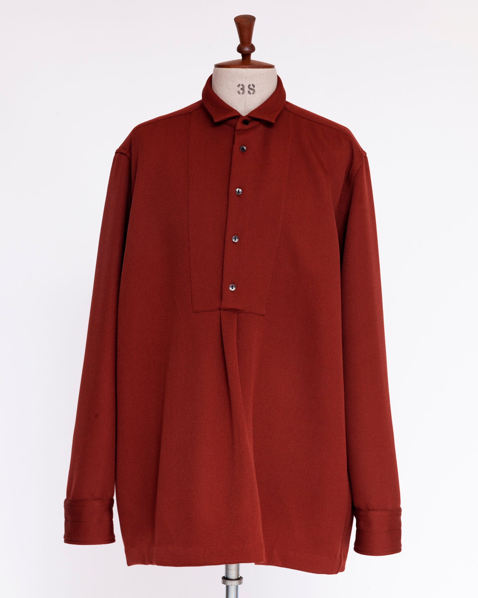 Omar Afridi Smock Shirt Red Tricotine