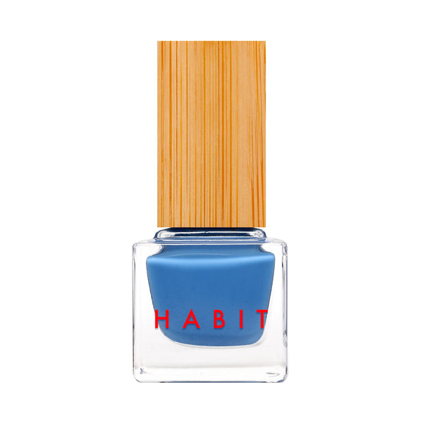 Habit Cosmetics Skincare Ingredient Infused Non-Toxic + Vegan Nail Polish in 57 Blue Jean Baby