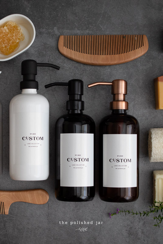 Glass Bottle | Custom Personalized Signature Collection Soap Dispensers