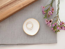 Load image into Gallery viewer, SALE | White + Gold Ring Dish