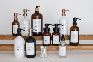 Glass Bottle | Soaps + Lotions | Monogram Collection