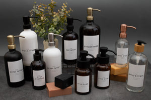 Glass Bottle | Soaps + Lotions | Luxe Collection