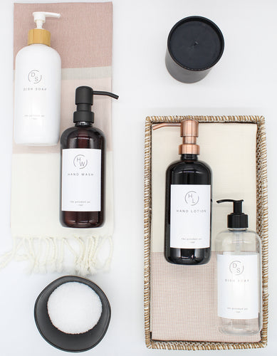 Plastic Bottle | Soaps + Lotions | Minimalist Collection
