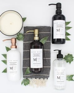 Plastic | Hand Wash, Dish Soap, Hand Lotion | Monogram Collection