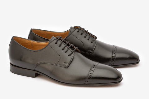 Toecap & Quarter Brogue Derby-B