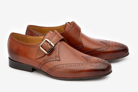 Wingcap Brogue Single Strap Monk