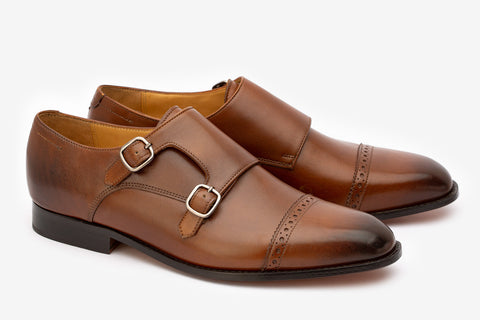 Quarter Brogue Toecap Double Monk