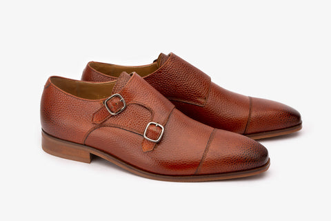 Pebble Grain Toecap Double Monk