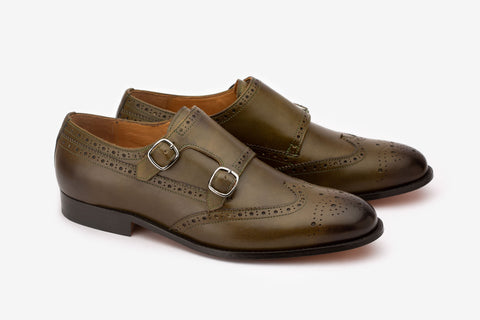 Wingcap Brogue Double Monk -O