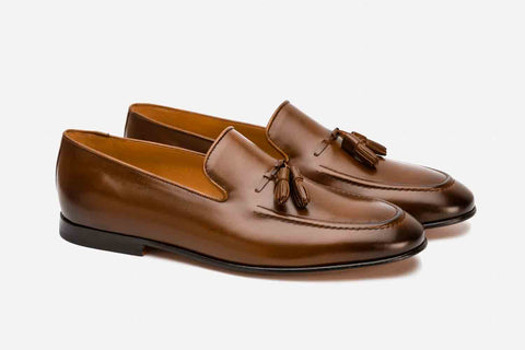 Tassels  loafer cord stitching on vamp