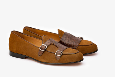 Twin Texture Double Monk Loafer- C