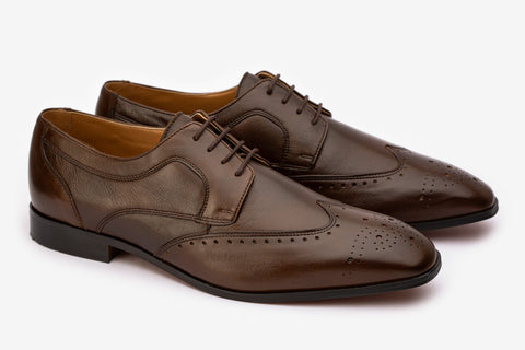 WingCap Derby With Quarter Brogue & Medallion- CBR