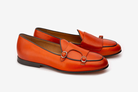 Double Monk Loafer With Contrast Piping-O