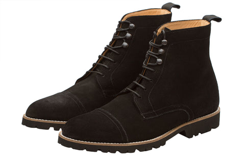 Light Weight Boots – Black Suede