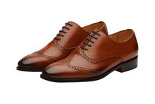 Load image into Gallery viewer, WING CAP BROGUE OXFORD – Mid Brown