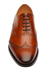 WING CAP BROGUE OXFORD – Mid Brown