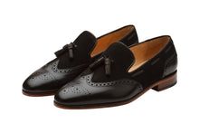 Load image into Gallery viewer, BROGUE COMBINATION TASSEL LOAFER-B