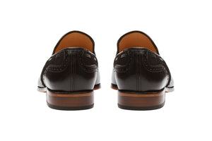 BROGUE COMBINATION TASSEL LOAFER-B