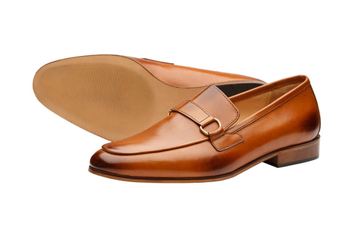 Apron Loafer With Trims -Tan