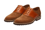 SADDLE OXFORD with brogue punch–SF