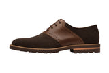SADDLE OXFORD with brogue punch–DK BRS