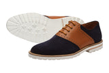 SADDLE OXFORD with brogue punch–NS