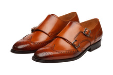 Load image into Gallery viewer, WINGCAP BROGUE DOUBLE MONK-C
