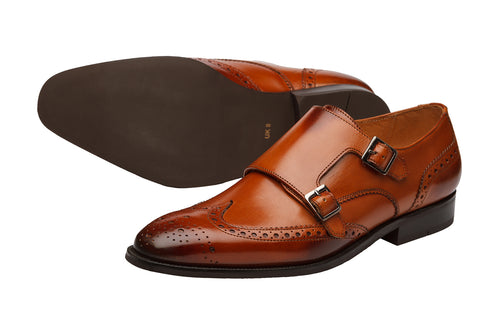 WINGCAP BROGUE DOUBLE MONK-C
