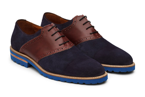 Saddle Oxford With  brogue punch–NBU