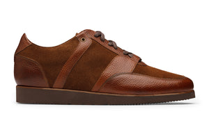 Pebble Grain & Suede leather combo Casual Sneaker-RT
