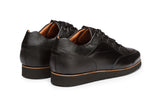 Pebble Grain & Plain leather combo Casual Sneaker-B