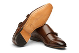 Low Heel Toecap Double Monks -CB