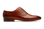 Brogue Oxford With Gimping And Medallion- Lab Tan