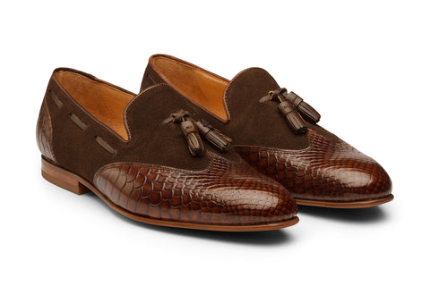 Wingcap With  Tassel Loafer-DK BR