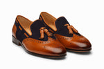BROGUE COMBINATION TASSEL LOAFER-T